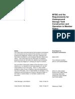 MTBE Underground Tank Document