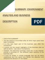 Executive Summary, Environment