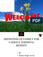 Def of Family for Various Benefit