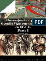 Edgar Raúl Leoni - Homenajearán Al Pintor Oswaldo Vigas Con Una Muestra en EE.UU., Parte I