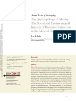 The Anthropology of Mining