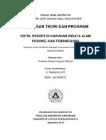 Andreas Aditya Nugraha Riyadi - 14.A1.0113 - Hotel Resort di Kawasan Wisata Alam Posong, Kab. Temanggung.pdf