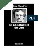 Edgar Allan Poe - El Escarabajo de Oro