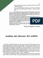 Análisis del discurso del análisis. Nestor Braunstein.