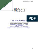 Boletín de Empleo Nº. 42.18