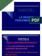 1. Le régime parlementaire