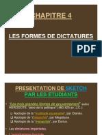4. Les Formes de Dictatures