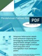 Pendahuluan Farmasi Klinis