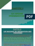 2. Le régime présidentiel