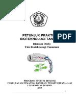 Petunjuk Praktikum - Biotek Tanaman 2019