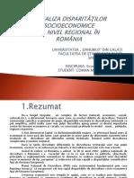 4.Analiza Disparităţilor Socioeconomice