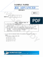JEE ADVANCED 2019 Physics Sample Question Paper-I