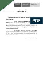 Constancia 2019