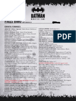 FAQ Batman Miniature Game