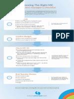 Event MC Checklist
