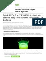 9Daily Performance Checks forLiquid Penetrant InspectionSystems