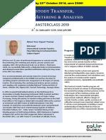 Custody Transfer, Flow Metering & Analysis Masterclass 2019