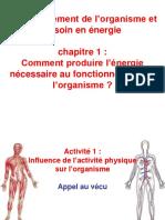 Influence de l'Activité Physique Sur l'Organisme