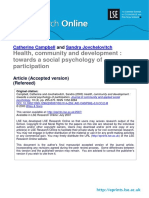 Health, Community and Development (Lsero)