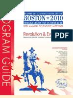ISHRS 18th Annual Scientific Meeting Program Guide Boston 2010