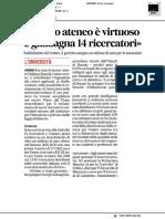 Questo ateneo è virtuoso e guadagna 14 ricercatori - Il Corriere Adriatico del 13 marzo 2019