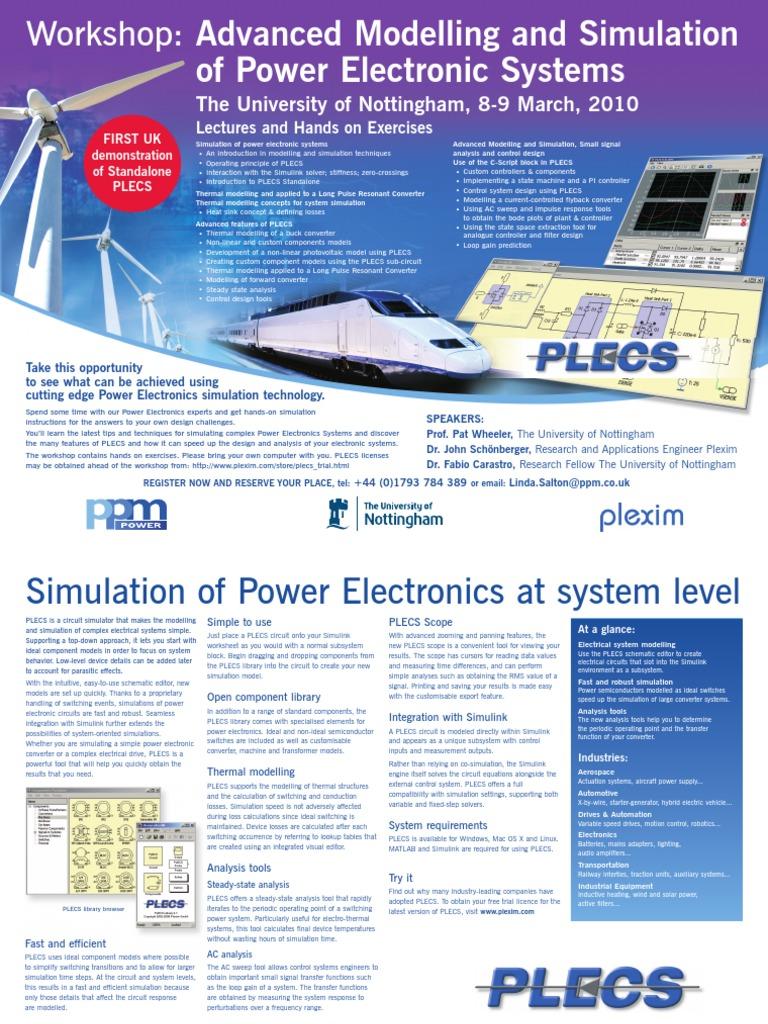 PLECS Flyier | Power Electronics | Electronic Circuits