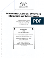 Masterclass on Writing Minutes of Meetings