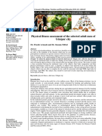 Physical fitness assessment of the selected adult men of Udaipur city