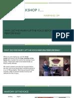 Vocal workshops