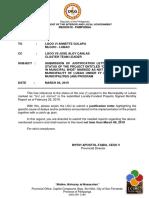 03012019 Memorandum Lubao Am 2018 Status