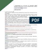 LEGEA Drepturilor Pacientului Nr. 46 Din 21 Ianuarie 2003