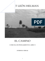 Robert León Helman. El Camino. Cosecha de Pensamientos. Libro 3. Interiora Terrae, Asunción, 2018. (1)