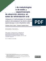 Validacion de La Metodologia Por El Metodo Estandar 3111ª Absorcion Atomica Para El Analisis de Metales Pesados en Muestras de Aguas y Aguas Residuales