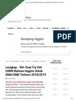 Lengkap - 50+ Soal Try Out USBN Bahasa Inggris Untuk SMA_SMK Terbaru 2018_2019 - Bospedia