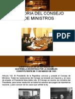 20.- Consejo de Ministros