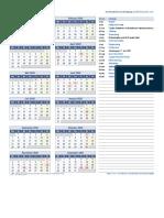 2020 Kalender Eine Seite