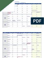Wochenkalender 2020 Deutschland Feiertage