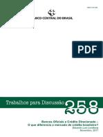 Bancos Oficiais e Crédito Direcionado – o que diferencia o mercado de crédito brasileiro? - Eduardo Luis Lundberg