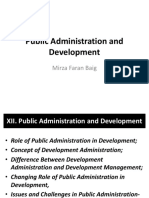 Lecture 12 Public Administration and Development 2017
