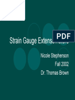 Strain gages and extensometer