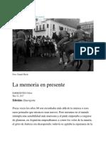 La Memoria en Presente – EMERGENTES – Medium