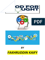 Fakhruddin kaify's Food for Thought