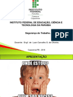 AULA 1 - Introdução a Segurança Do Trabalho TdGTsLL