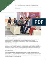 07-03-2019 - SSP Se Compromete a Fortalecer Con Mujeres El Trabajo de Seguridad - Termometroenlinea.com.Mx