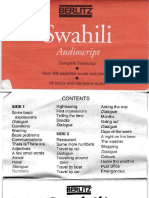 Swahili Berlitz Audio Script