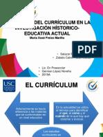 La Historia Del Currículum en La Investigación Hístorico-educativa Actual