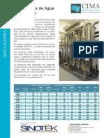 Cima Destiladores Multiefecto Esp
