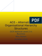 AO3 – Alternative Structures