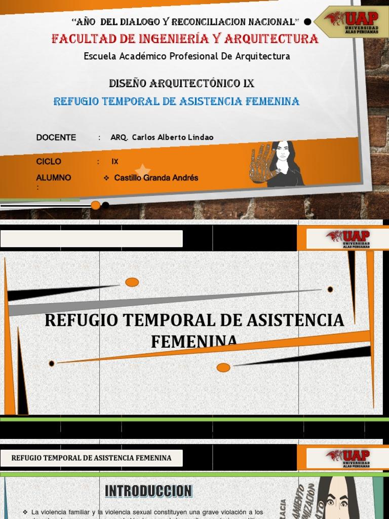 Refugio Temporal Femenina Violencia Domestica Discriminacion