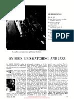 Ellison, On Bird, Bird-Watching, And Jazz